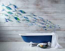 Shoaling Fish: modern Bathroom by Jo Downs