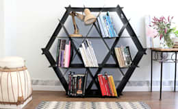 modern Living room by Ruche shelving unit