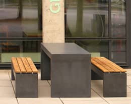 Betonbank San Vito 2000: moderner Garten von oggi-beton
