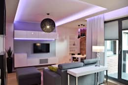 Salas / recibidores de estilo moderno por Pracownia Projektowa Studio86