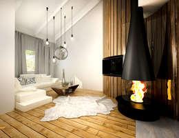 industrial Living room by Дарья Баранович Дизайн Интерьера