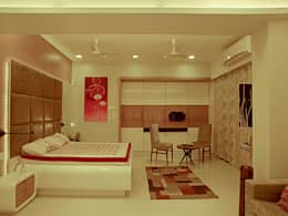 s k designs - contemporary residence in Andheri:  Bedroom by S K Designs