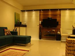 S K Designs   Contemporary Residence In Kandivali: Modern Living Room By S  K Designs