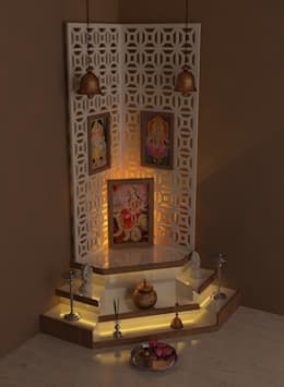 High Quality Pooja Room: By Drashtikon Designer Consultant