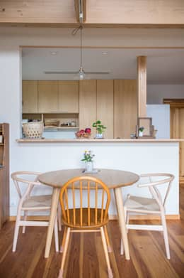 minimalistic Dining room by Sola sekkei koubou