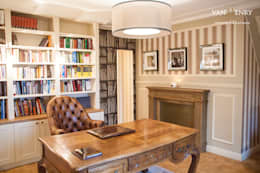 classic Study/office by vanHenry interiors & colours