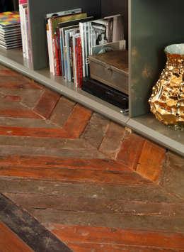 Lounge do Hotel Casa Cor Rio 2012: Paredes  por Gisele Taranto Arquitetura
