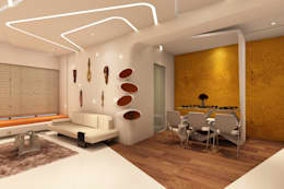 Living room by NEX LVL DESIGNS PVT. LTD.