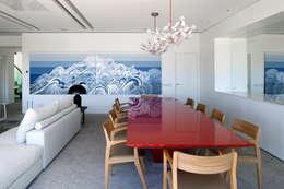 Mirante House: Salas de jantar modernas por Gisele Taranto Arquitetura
