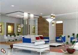 Living room interiors: modern Living room by Preetham  Interior Designer