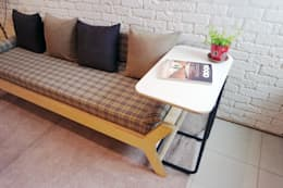 N.E fabric bench: Design-namu의  거실