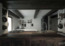 mountain house: Case in stile in stile Rustico di Fabio Azzolina Architetto
