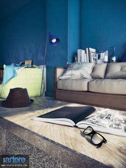 Hipsters: Salon de style de style Industriel par Studio Artere