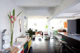 Salon de style de style eclectique par Mauricio Arruda Design