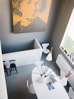 S-House: moderne Woonkamer door VMX Architects