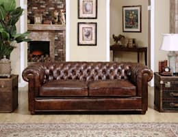 Leather Chesterfield Sofa : classic Living room by Locus Habitat