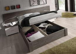 Camas, Aros y Canapes: Dormitorios de estilo  de Baixmoduls