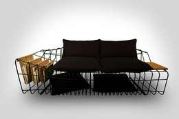 Sule Koc Design – SOFIST: endüstriyel tarz tarz Oturma Odası