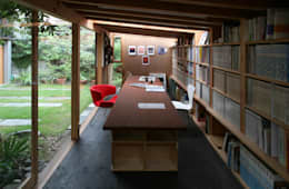 ห้องทำงาน/อ่านหนังสือ by 神家昭雄建築研究室