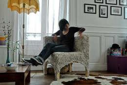 éKosse: Salon de style de style eclectique par Work&Shop