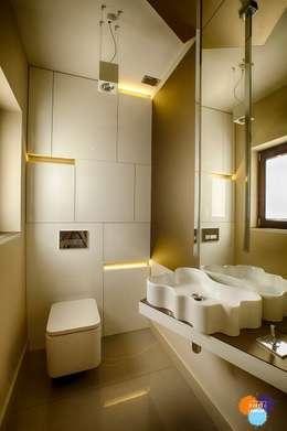 DOM W KOSZALINIE : styl , w kategorii Łazienka zaprojektowany przez Studio Projektowe Projektive