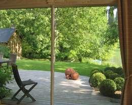Jardins campestres por ZENOBIA Atelier de Paysage et d'Urbanisme