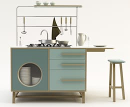 Monoblocco Happy Kitchen_Design Mood: Cucina in stile in stile Industriale di Design Mood