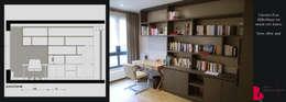 grande bibliothèque: Bureau de style de style Moderne par Agence Diot-Clément