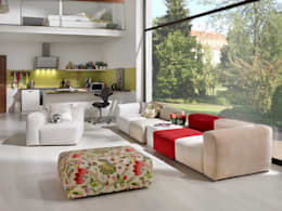 Projekty,  Salon zaprojektowane przez HOME Schlafen & Wohnen GmbH