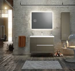 industrial Bathroom by SONIA