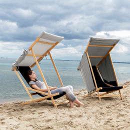 leżaki : styl , w kategorii Balkon, weranda i taras zaprojektowany przez Jan Kochański