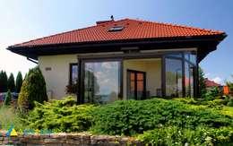 Ogród Zimowy : styl nowoczesne, w kategorii Domy zaprojektowany przez Alpina Design