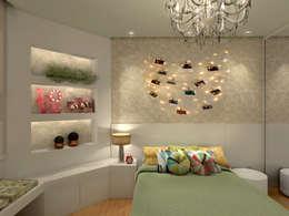 moderne Slaapkamer door Konverto Interiores + Arquitetura