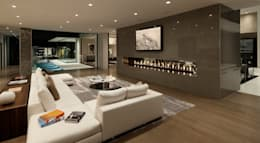 SUNSET STRIP RESIDENCE : modern Living room by McClean Design