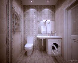 Baños de estilo moderno por Студия интерьерного дизайна happy.design
