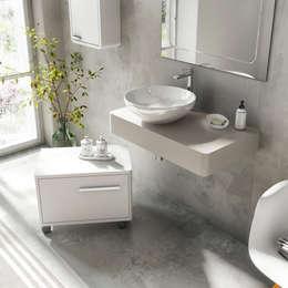 Des meubles de salle de bains design et fonctionnels for Synonyme de salle de bain