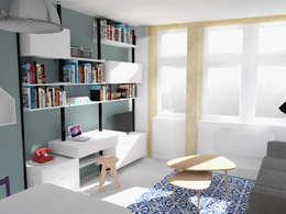 industrial Living room by AÏDO