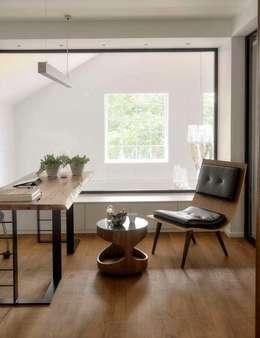 HANDE KOKSAL INTERIORS – House E - E Evi: modern tarz Çalışma Odası