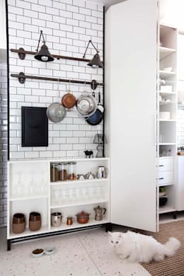 industrial Kitchen by HANDE KOKSAL INTERIORS