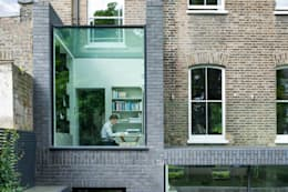 A Brick and a Half house: minimalistic Study/office by Lipton Plant Architects