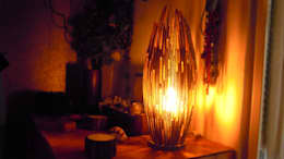 Lampe en carton: Chambre de style de style Tropical par Jessica Mons