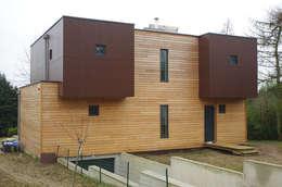 façade nord: Maisons de style de style Moderne par Atelier d'Architecture Marc Lafagne,  architecte dplg
