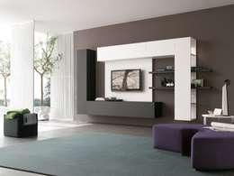 Un soggiorno moderno: parete attrezzata con stile