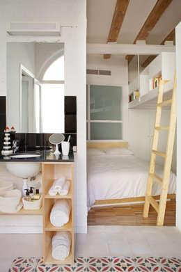 غرفة نوم تنفيذ Miel Arquitectos