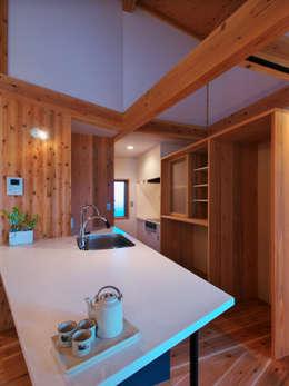 多角形の家  POLYGONAL HOUSE  TOYAMA,JAPAN: 水野建築研究所が手掛けたダイニングです。