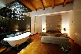 Projekty,  Sypialnia zaprojektowane przez Matteo Gattoni - Architetto