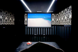modern Media room by Matteo Gattoni - Architetto