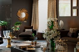 Projekty,  Salon zaprojektowane przez Brunete Fraccaroli Arquitetura e Interiores