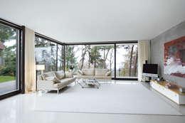 Projekty,  Salon zaprojektowane przez THOMAS BEYER ARCHITEKTEN