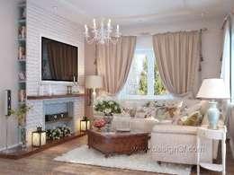 Дом в Санкт-Петербурге: Гостиная в . Автор – студия Design3F